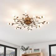 Lindby Bentas -LED-kattovalo metallia, pronssi