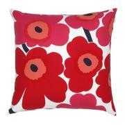 Pieni Unikko tyynynpäällinen punainen-tummansininen